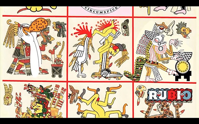 Codex Borgia Plates #24 and #23 telling the events of 3/9/16