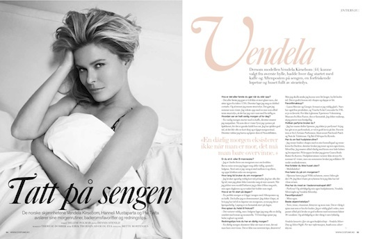 VENDELA KIRSEBOM, Model & TV Presenter Costume Beauty