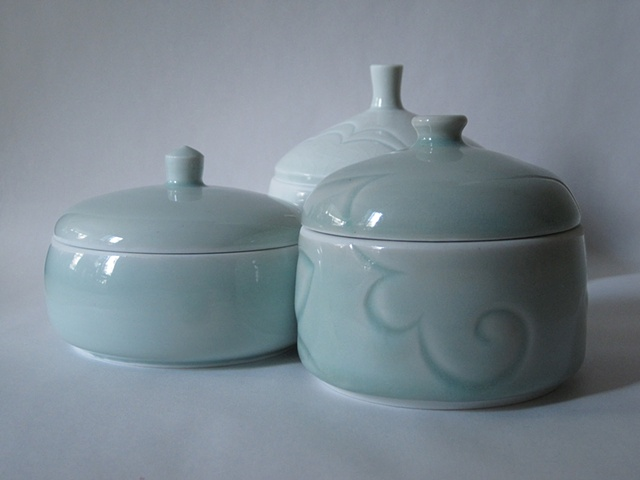 three lidded forms