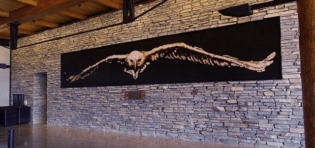 """Final View"" installed at Jackson Hole Airport, May 2010"