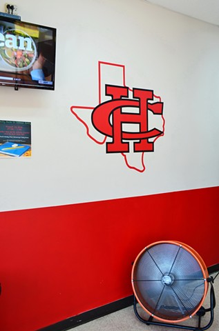 Painting of Cedar Hill High School Logo