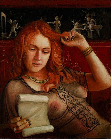 """Sulpicia Reading Her Poem"""