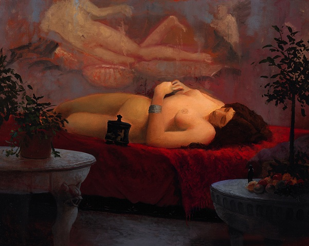 """Pompeian woman with pyxis"""