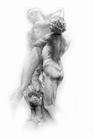 """Study of Clodion's ""Bacchant and Bacchante with a Cupid"", Second view"