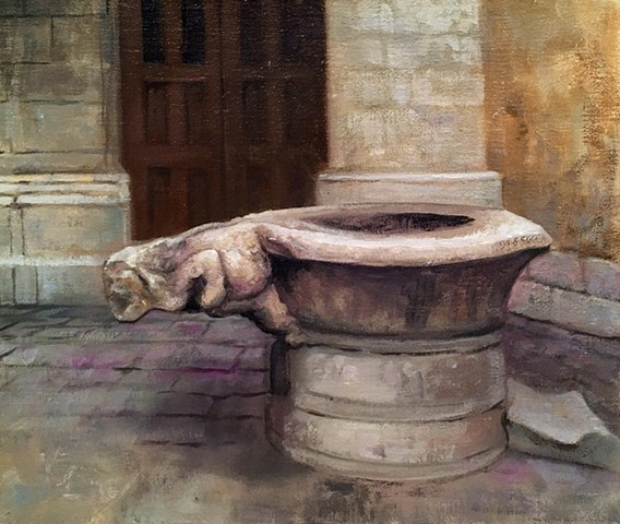 """Gothic well and the Musée National du Moyen Âge, Paris"""