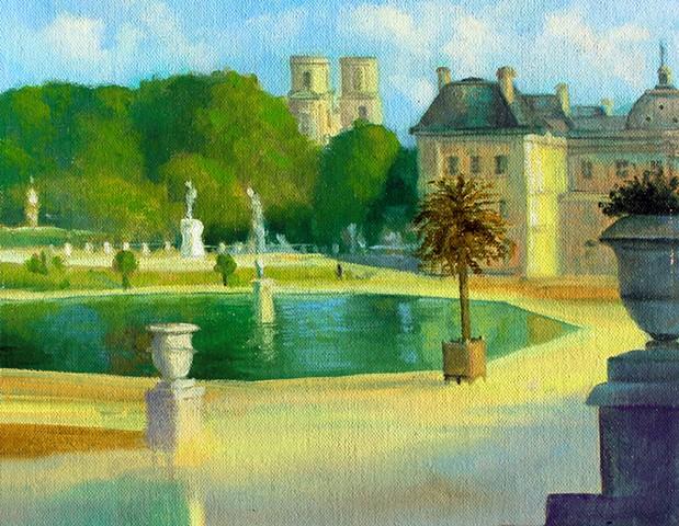 """""""Jardin du Luxembourg, Paris, France"""" painted en plein air"""