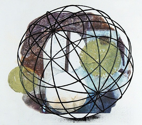 Wire Globe  (book panel detail)