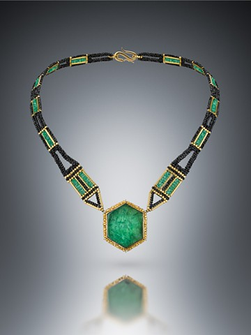 Emerald Slice Necklace
