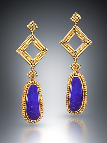 Purple Opal Chandelier Earrings