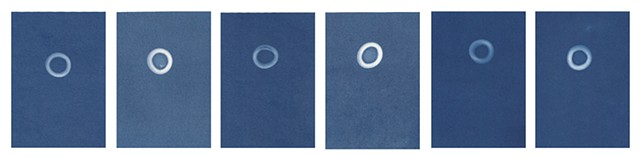Cyanotype Archives: Small Flat Glass Marbles