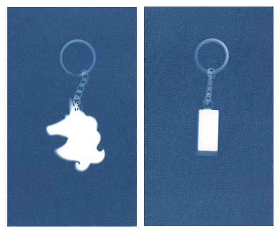 Cyanotype Archives: Keychains