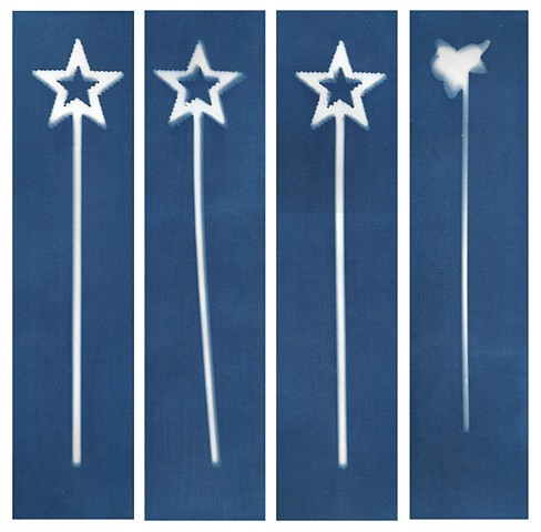 Cyanotype Archives: Large Wands