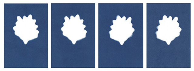 Cyanotype Archives: Individual Toy Lettuce Leaves