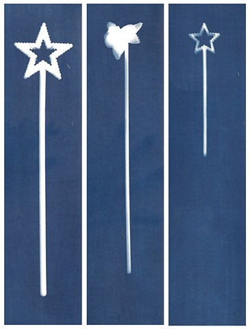 Cyanotype Archives: Pink Wands