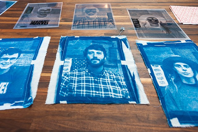Cyanotype on Fabric workshop.