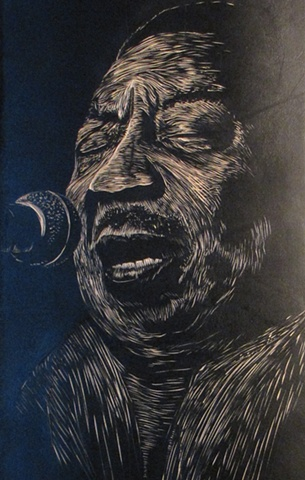 Muddy Waters Skate Deck (detail)