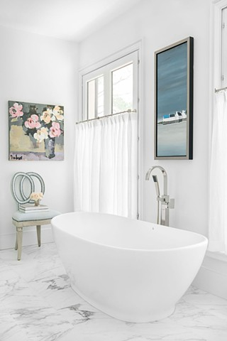 MASTER BATH, BATH RENOVATION, GARY BODNER ART, SUSAN KINSELLA ART