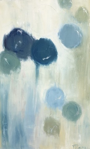 ABSTRACT ART, BLUE ABSTRACT, CIRCLES