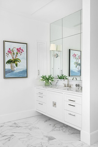 MASTER BATH, BATH RENOVATION, NANCYRACEART PAINTING