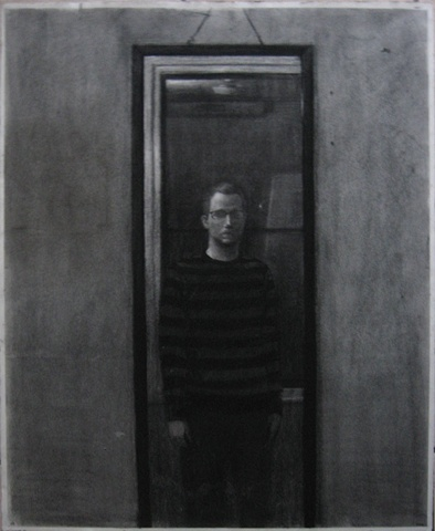 Self-Portrait with Striped Sweater