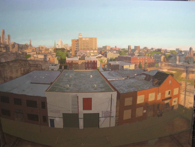 View of Philadelphia - West from Percy and Spring Garden (In Progress)