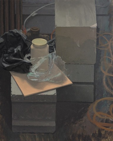 Still Life with Cinder Blocks - In Progress