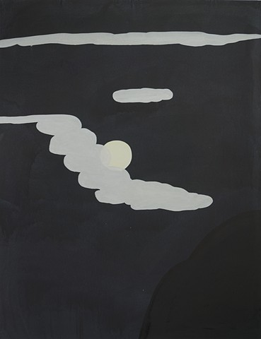 Moon over Calanda 100x130cm
