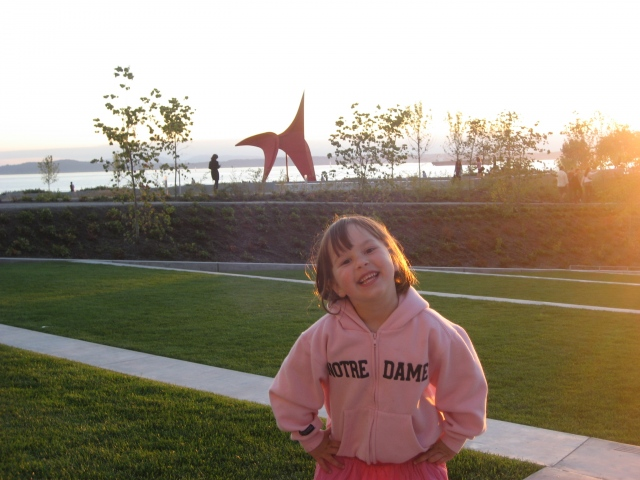 Fiona in Seattle at sunset -taken by Jim O'Donnell