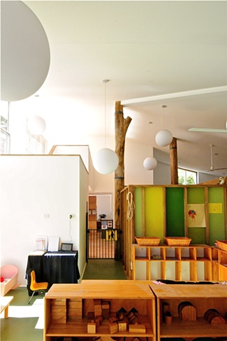 pre-school playroom childcare design, architecture