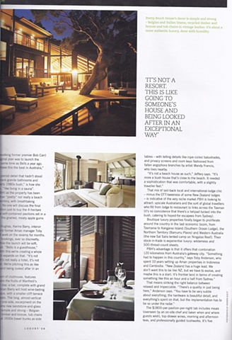 Article on Pretty Beach House
