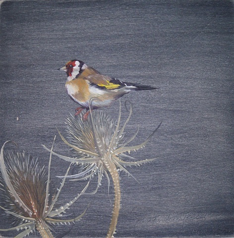 Goldfinch & Thistles   SOLD