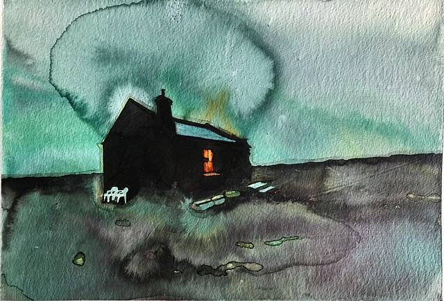 Night, Watch House I - SOLD  #artistsupportpledge