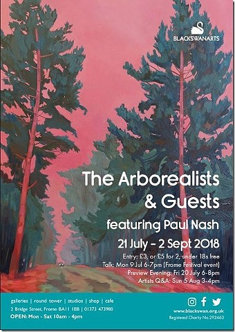 Black Swan Arts  Arborealists and Guests – featuring Paul Nash Press release