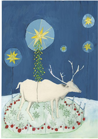 Reindeer with heavy star
