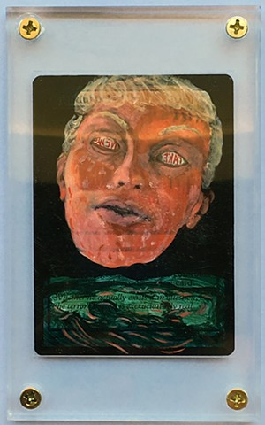Fake News Giant Head Drumpf Trump Painting