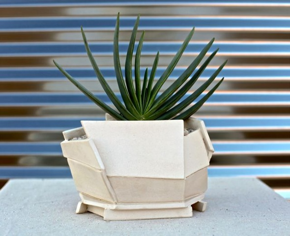large architecturally-inspired planter