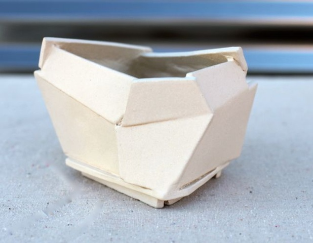 Medium white architectural planter