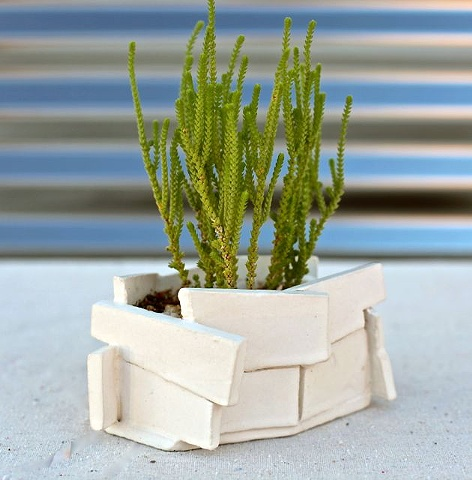 small architectural planter