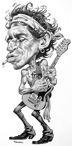 caricature of Keith Richards