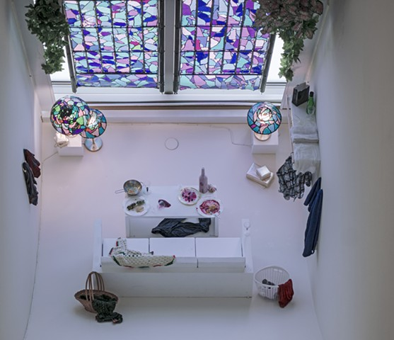 "Installation view of ""Stained Glass"" room"