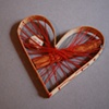 wooden sewn heart