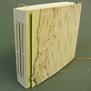 Cordage sample book with bark and paper cover