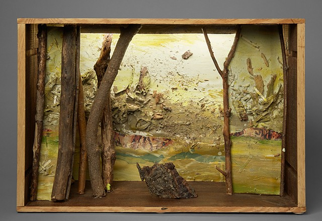 diorama sculpture lit box