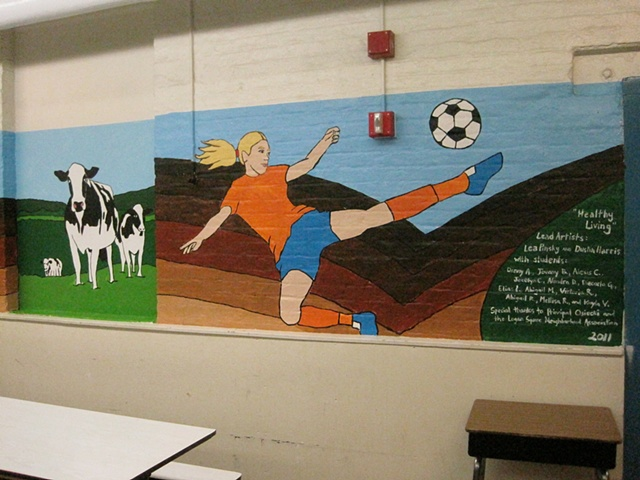Lunchroom Mural: Healthy Living and the Four Elements