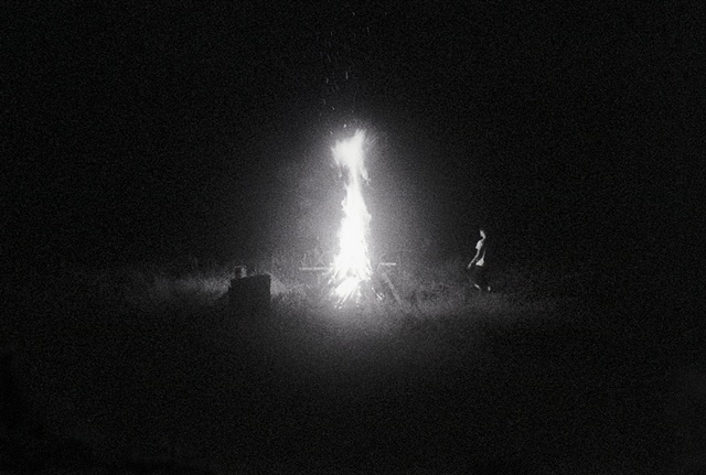 Keith and the fire, Poland, NY