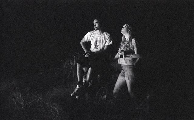 Kieth & Mary by the fire, Poland, NY