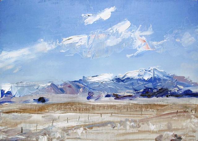 "'San Luis Valley. Colorado' 9""x13"" Oil on wood."