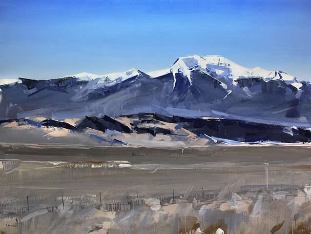 "'Sangre De Cristo Mountains. Colorado' 36""x48"" Oil on wood"