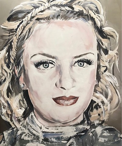 "'Commission painting for American Idol winner MADDIE POPPE' 36""x43"" Oil on wood"