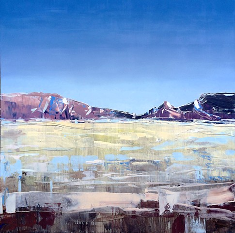 "'Moab Plains. Utah'  48""x48"" Oil on wood"
